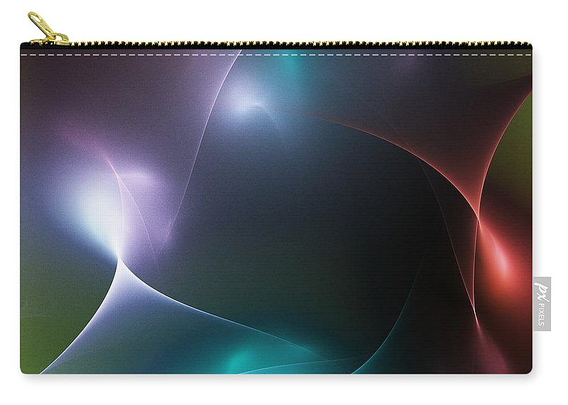 Fine At Carry-all Pouch featuring the digital art Abstract 071511 by David Lane