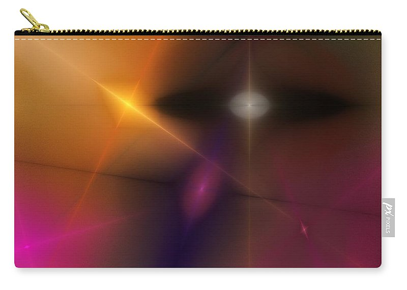 Abstract Carry-all Pouch featuring the digital art Abstract 071710 by David Lane