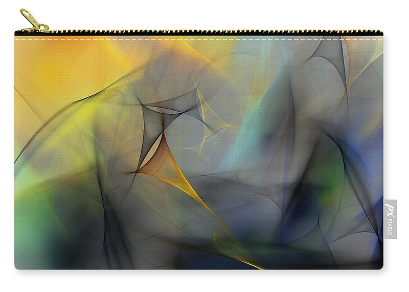 Abstract Carry-all Pouch featuring the digital art Abstract 071810 by David Lane