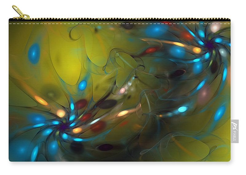 Fractal Carry-all Pouch featuring the digital art Abstract 071910 by David Lane