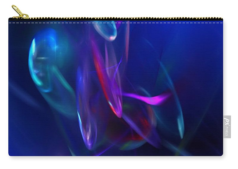 Abstract Carry-all Pouch featuring the digital art Abstract 072610 by David Lane