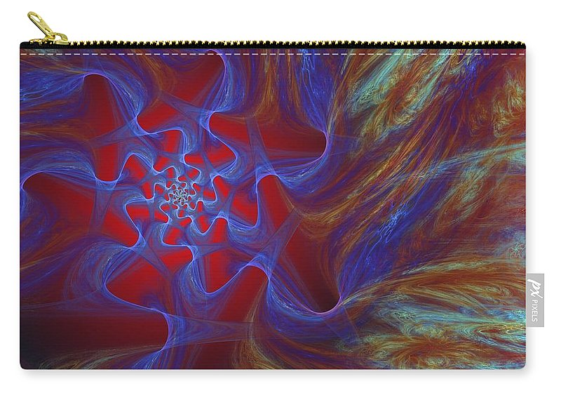 Fine Art Carry-all Pouch featuring the digital art Abstract 073010 by David Lane