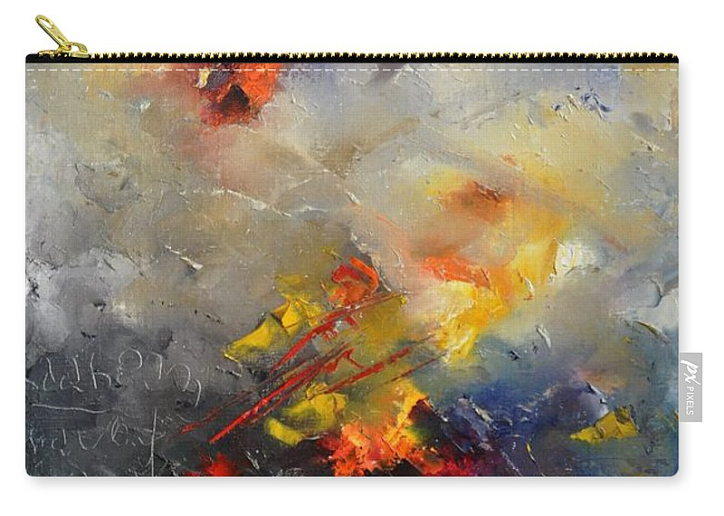 Abstract Carry-all Pouch featuring the painting Abstract 0805 by Pol Ledent