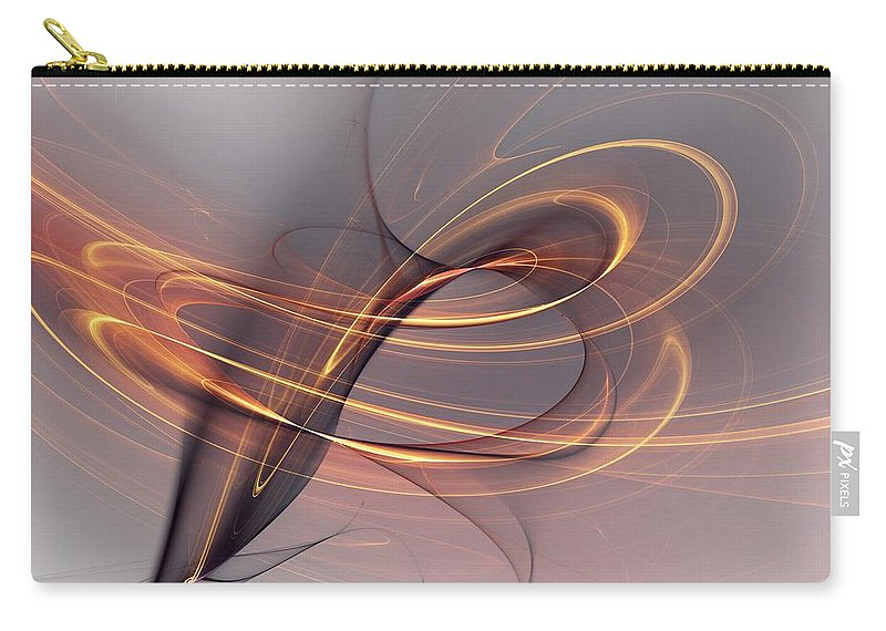 Fine Art Carry-all Pouch featuring the digital art Abstract 090411 by David Lane