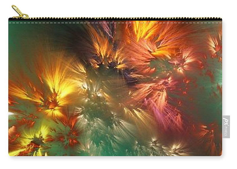 Fine Art Carry-all Pouch featuring the digital art Abstract 090710A by David Lane