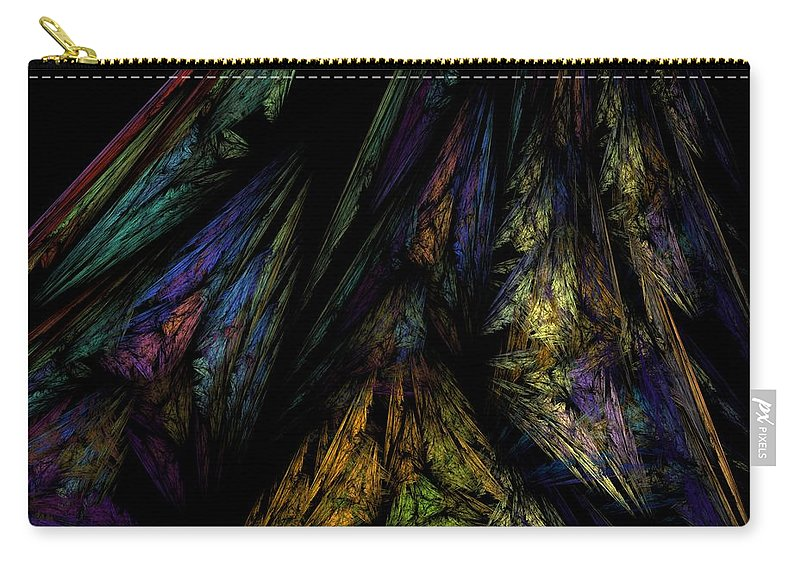 Abstract Digital Painting Carry-all Pouch featuring the digital art Abstract 10-08-09-1 by David Lane
