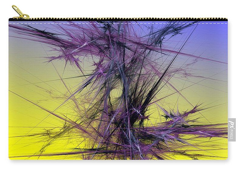 Abstract Digital Painting Carry-all Pouch featuring the digital art Abstract 10-08-09 by David Lane