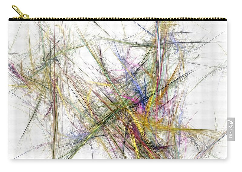 Abstract Digital Painting Carry-all Pouch featuring the digital art Abstract 10-16-09-2 by David Lane