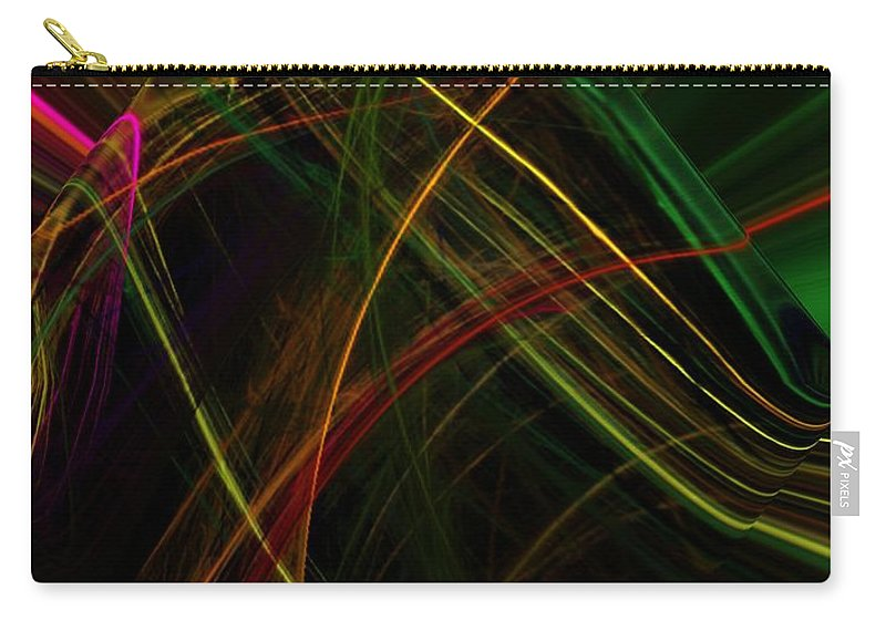 Abstract Digital Painting Carry-all Pouch featuring the digital art Abstract 10-16-09 by David Lane