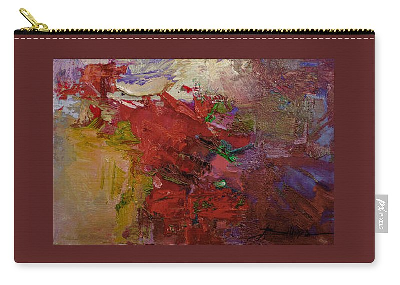 Abstract Carry-all Pouch featuring the painting Abstract 103 by Betty Jean Billups