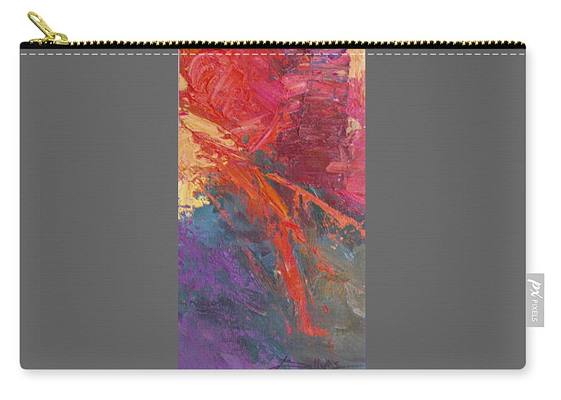 Abstract Carry-all Pouch featuring the painting Abstract 103A by Betty Jean Billups
