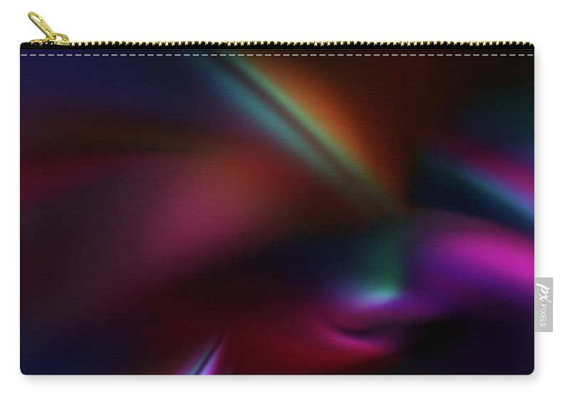 Abstract Digital Painting Carry-all Pouch featuring the digital art Abstract 11-08-09 by David Lane