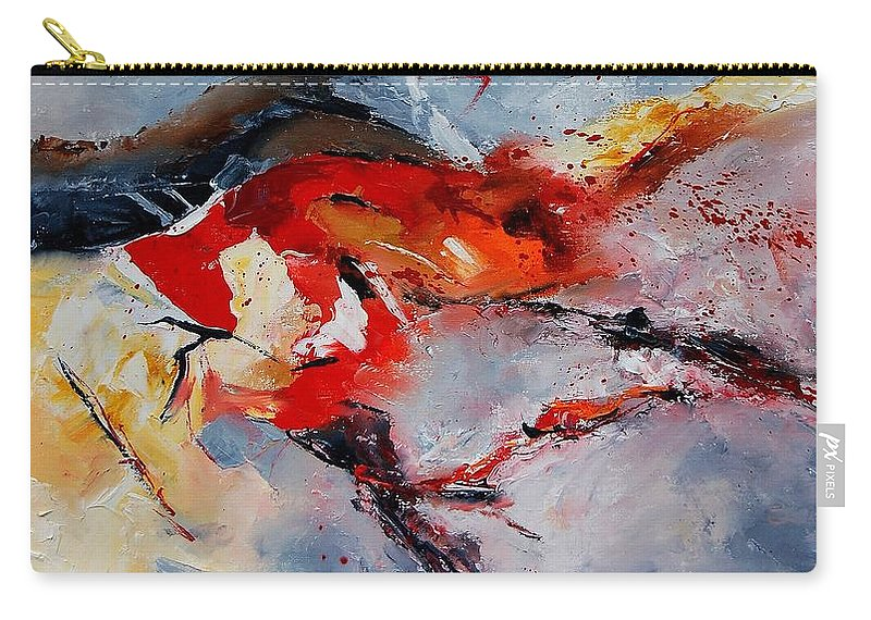 Abstract Carry-all Pouch featuring the painting Abstract 1106 by Pol Ledent
