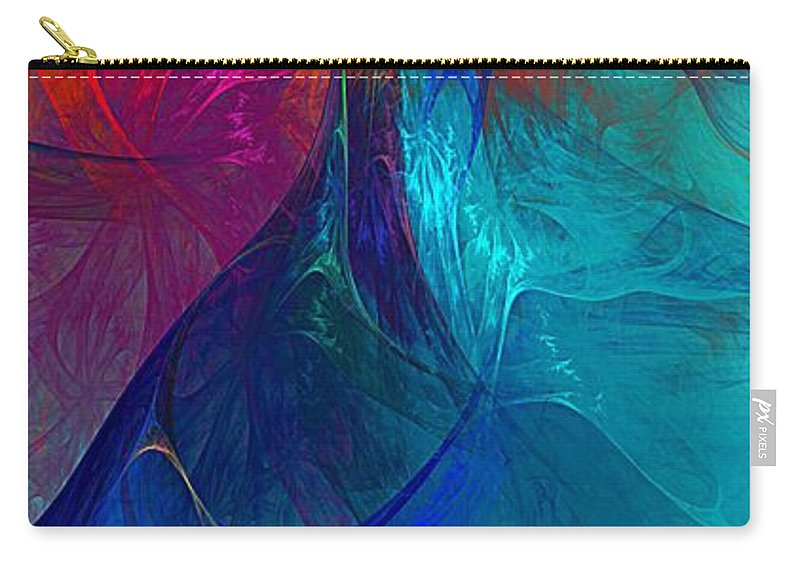 Fine Art Carry-all Pouch featuring the digital art Abstract 120610 by David Lane