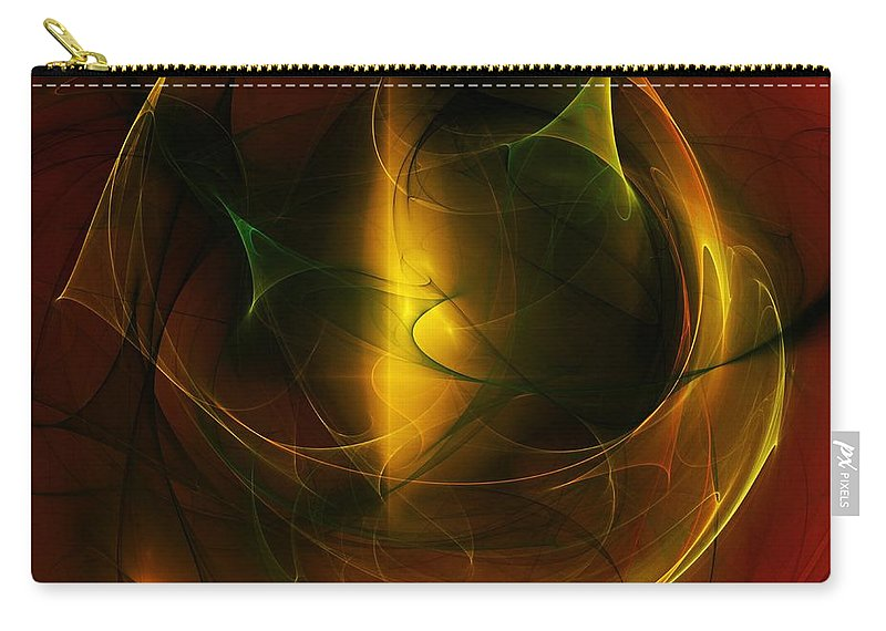 Fine Art Carry-all Pouch featuring the digital art Abstract 120610a by David Lane