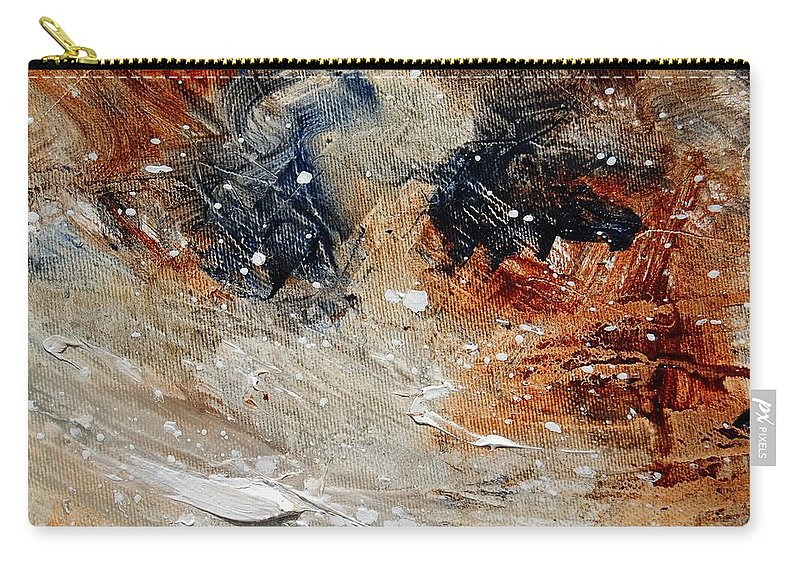 Abstract Carry-all Pouch featuring the painting Abstract 1236 by Pol Ledent
