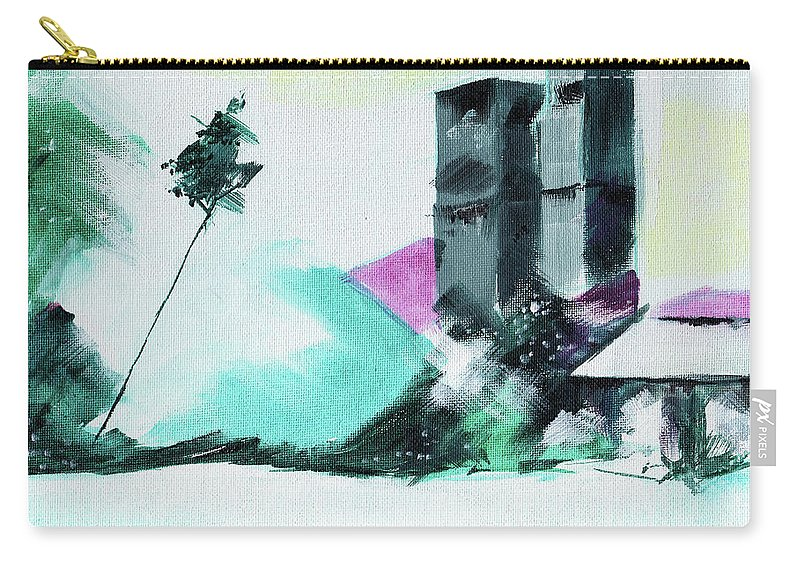 Nature Carry-all Pouch featuring the painting Abstract 14 by Anil Nene