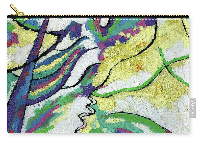 Abstract Carry-all Pouch featuring the painting Abstract #15 by Richard Votch