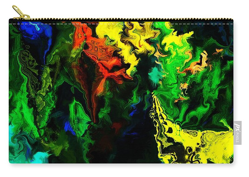Abstract Carry-all Pouch featuring the digital art Abstract 2-23-09 by David Lane