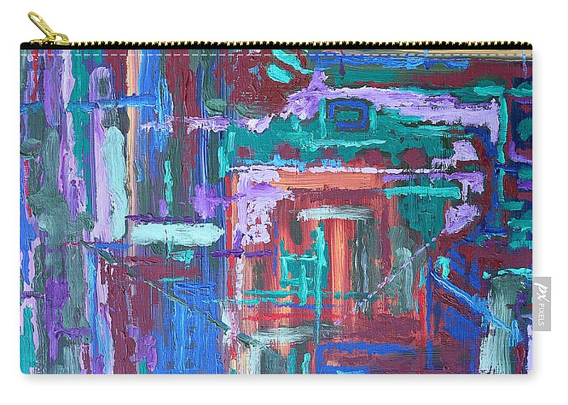 Abstract Carry-all Pouch featuring the painting Abstract 27 by Patrick J Murphy