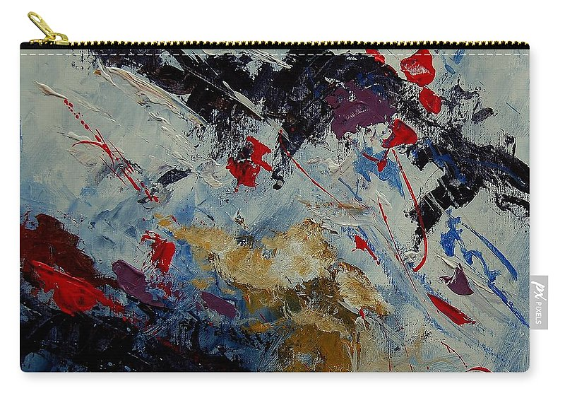 Abstract Carry-all Pouch featuring the painting Abstract 33900122 by Pol Ledent