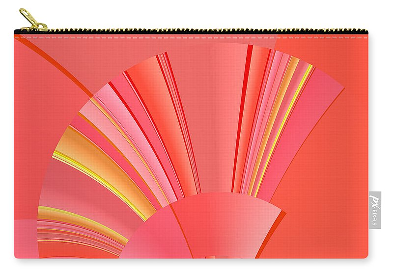Art Deco Carry-all Pouch featuring the digital art Abstract 386 by Judi Suni Hall