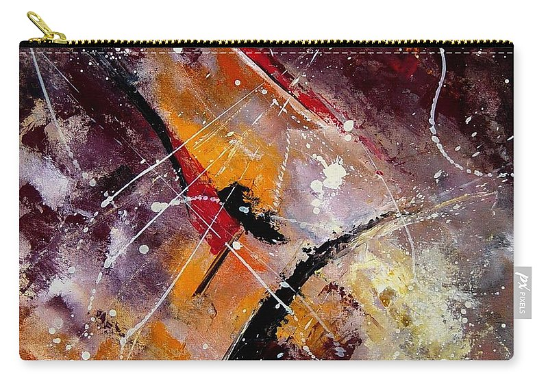 Abstract Carry-all Pouch featuring the painting Abstract 45 by Pol Ledent