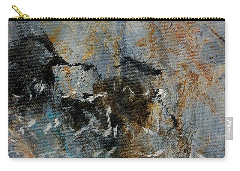 Abstract Carry-all Pouch featuring the painting Abstract 4526987 by Pol Ledent