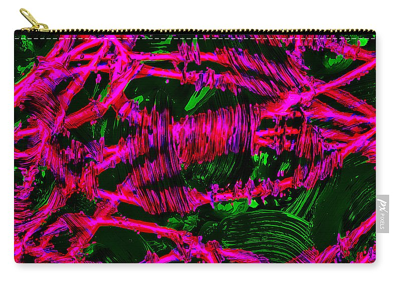 Abstract Carry-all Pouch featuring the digital art Abstract 464 by Kristalin Davis