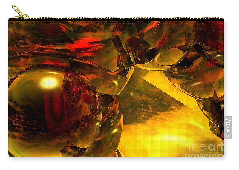 Abstract Carry-all Pouch featuring the digital art Abstract 5-21-09 by David Lane