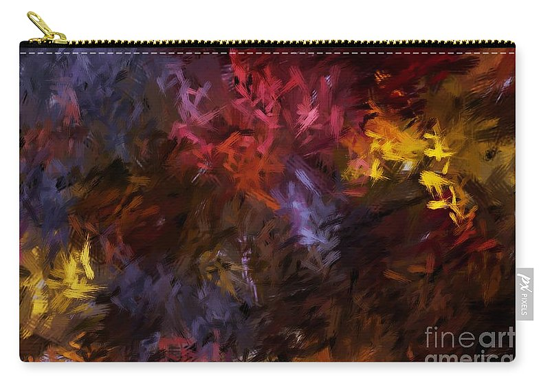 Abstract Carry-all Pouch featuring the digital art Abstract 5-23-09 by David Lane
