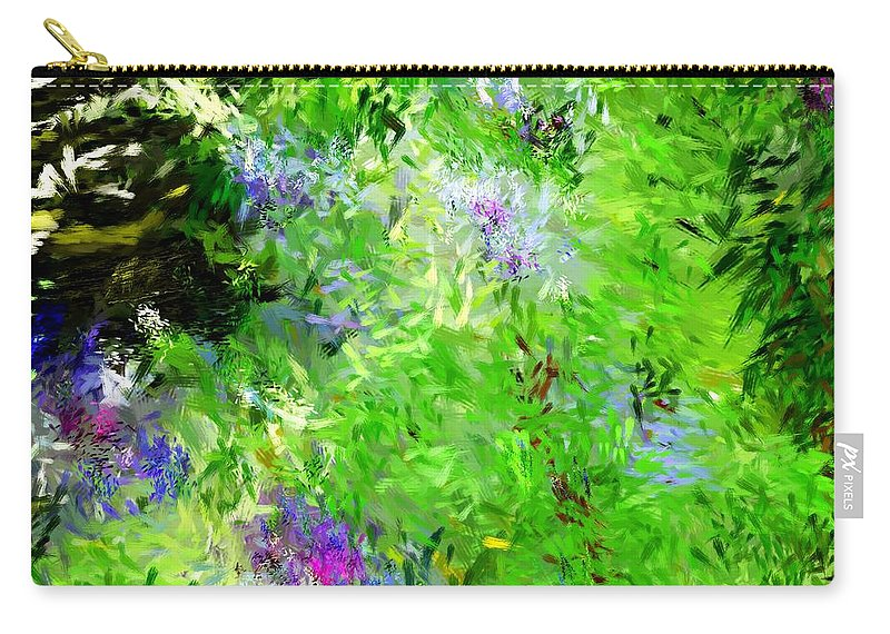Abstract Carry-all Pouch featuring the digital art Abstract 5-26-09 by David Lane