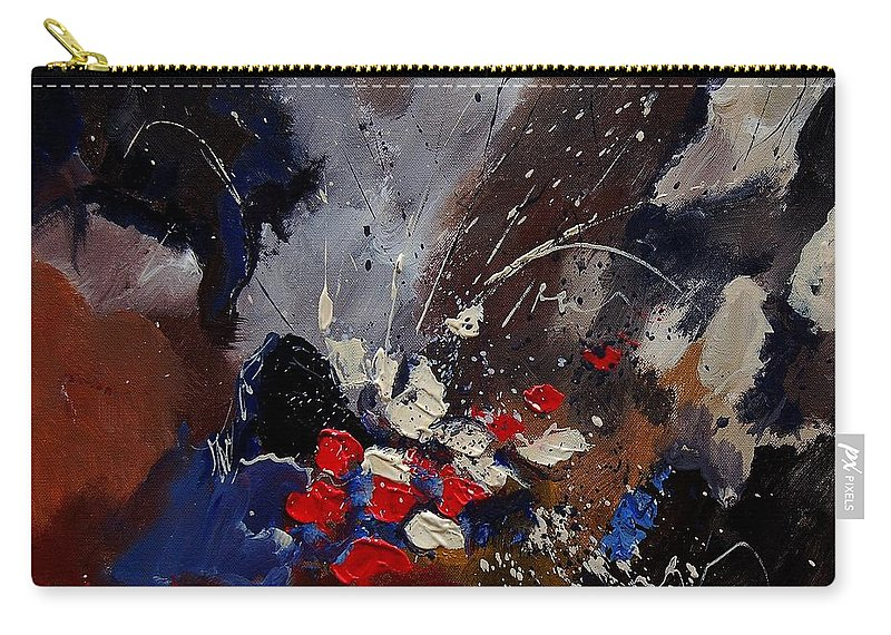 Abstract Carry-all Pouch featuring the painting Abstract 55900122 by Pol Ledent