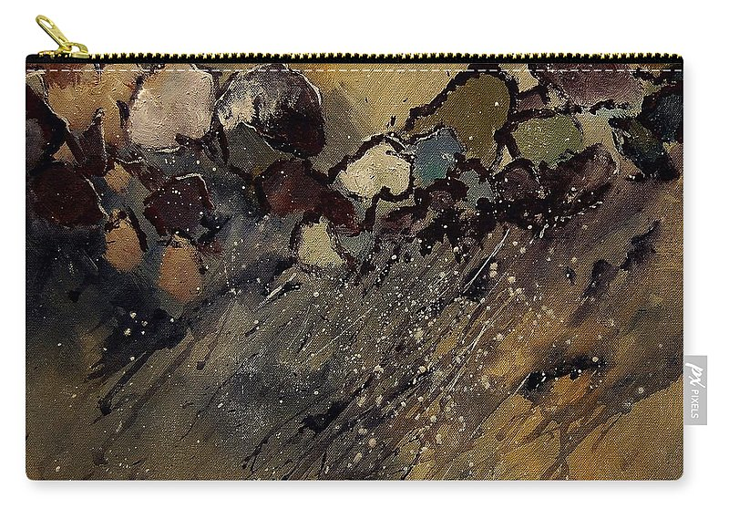 Abstract Carry-all Pouch featuring the painting Abstract 55901161 by Pol Ledent