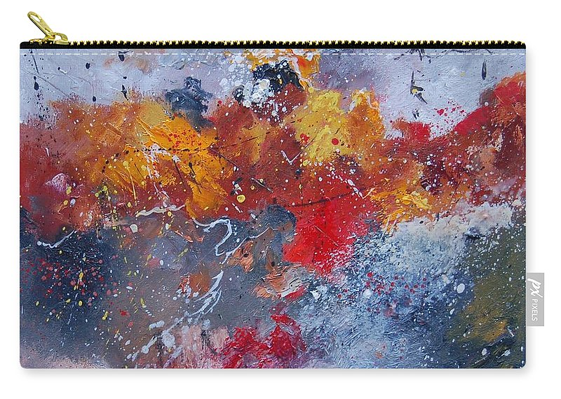 Abstract Carry-all Pouch featuring the painting Abstract 55902110 by Pol Ledent