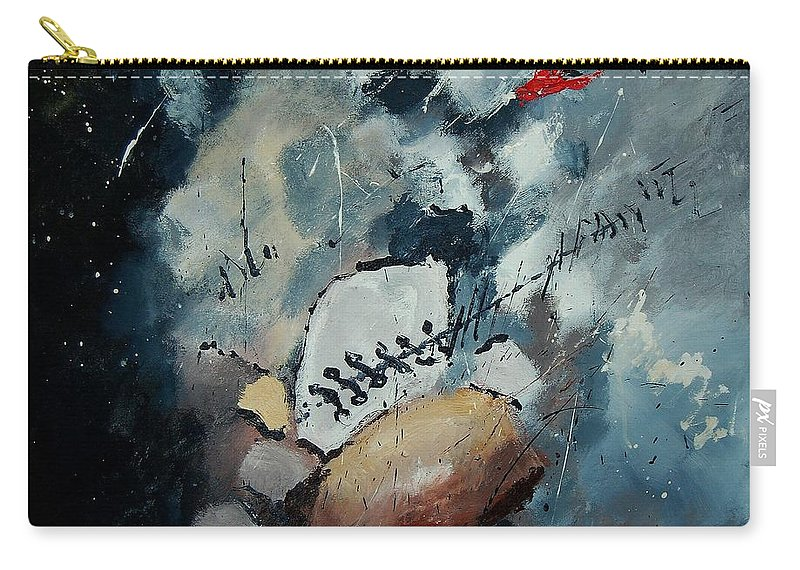 Abstract Carry-all Pouch featuring the painting Abstract 55902192 by Pol Ledent