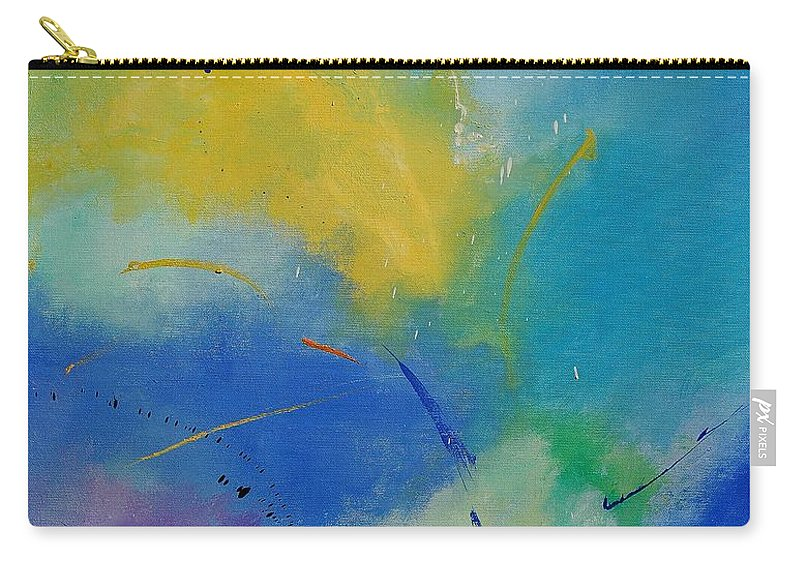Abstract Carry-all Pouch featuring the painting Abstract 564897 by Pol Ledent
