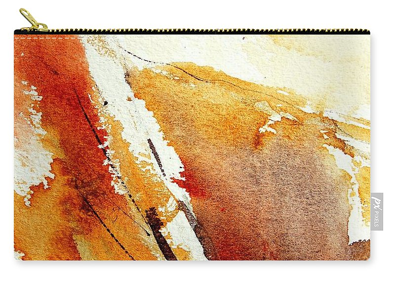 Abstract Carry-all Pouch featuring the painting Abstract 5869 by Pol Ledent