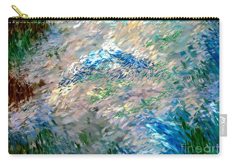 Abstract Carry-all Pouch featuring the digital art Abstract 6-03-09 A by David Lane