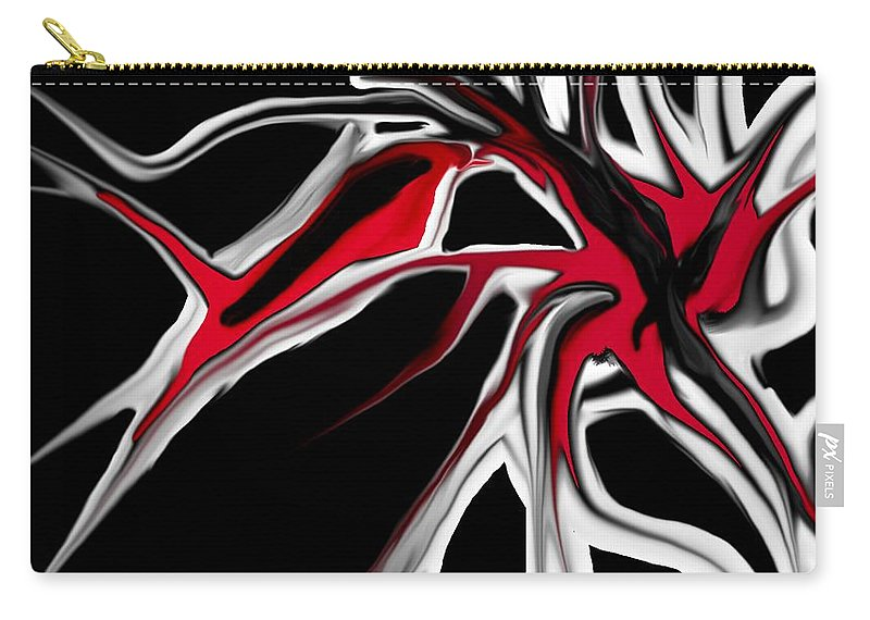 Abstract Carry-all Pouch featuring the digital art Abstract 6-14-09 by David Lane
