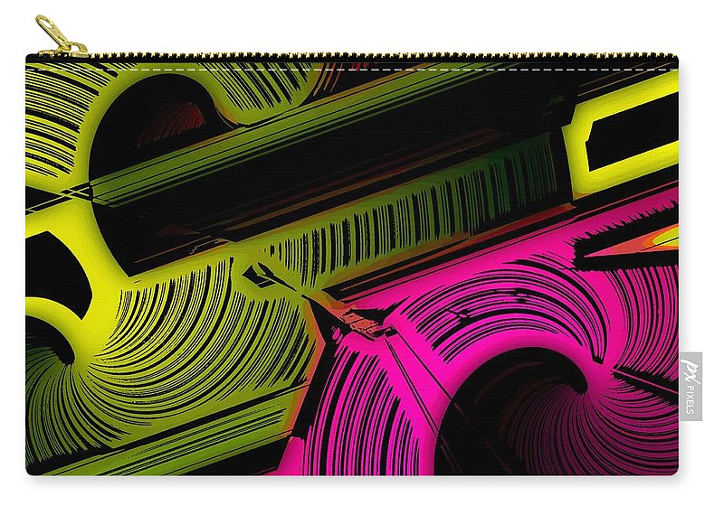 Abstract Carry-all Pouch featuring the digital art Abstract 6-21-09 by David Lane
