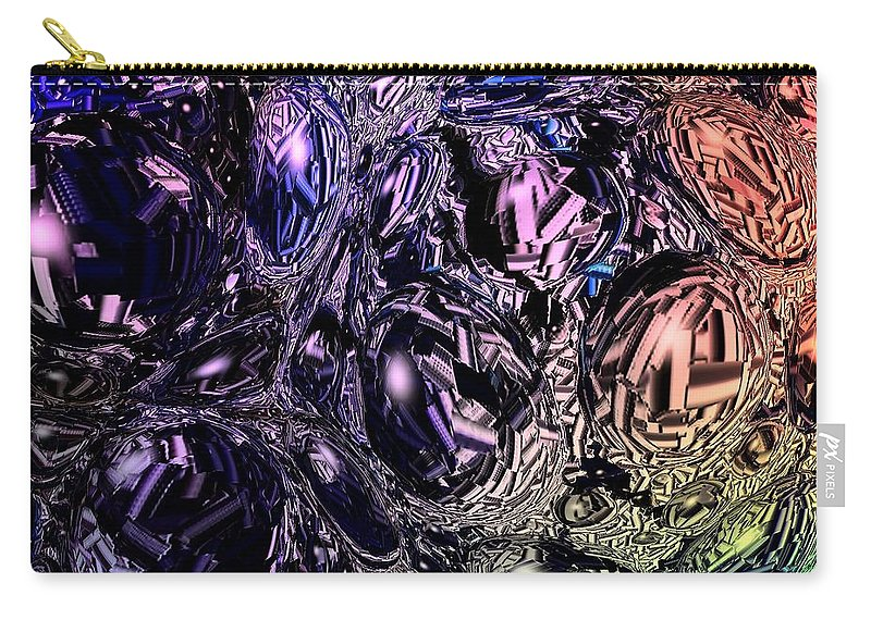 Digital Art Carry-all Pouch featuring the digital art Abstract 63016.13 by Belinda Cox