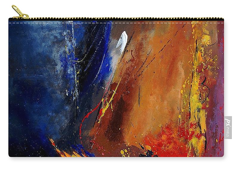 Abstract Carry-all Pouch featuring the painting Abstract 67900142 by Pol Ledent