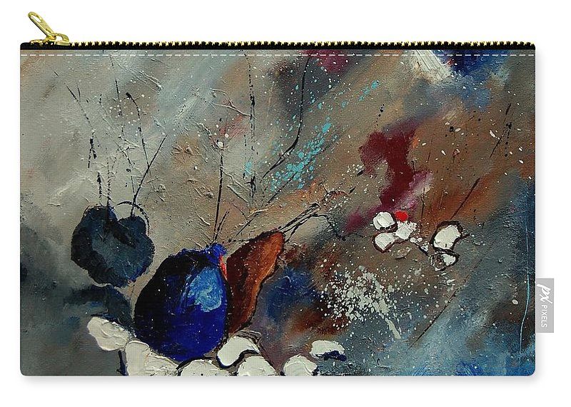 Abstract Carry-all Pouch featuring the painting Abstract 67909010 by Pol Ledent