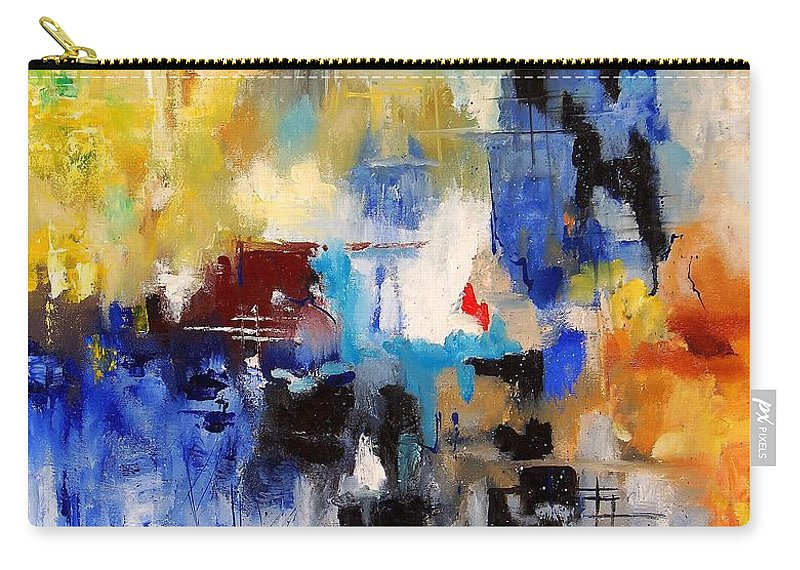Abstract Carry-all Pouch featuring the painting Abstract 69070 by Pol Ledent