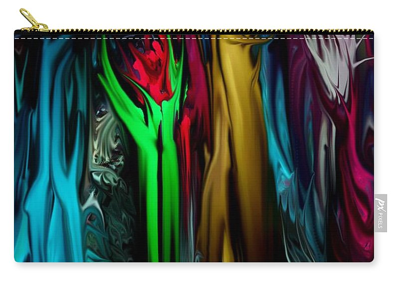 Abstract Carry-all Pouch featuring the digital art Abstract 7-09-09 by David Lane