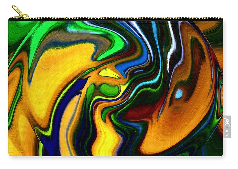Abstract Carry-all Pouch featuring the digital art Abstract 7-10-09 by David Lane