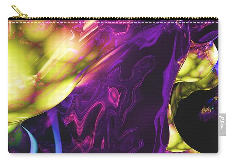 Abstract Carry-all Pouch featuring the digital art Abstract 7-25-09 by David Lane