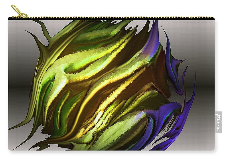 Abstract Carry-all Pouch featuring the digital art Abstract 7-26-09-a by David Lane