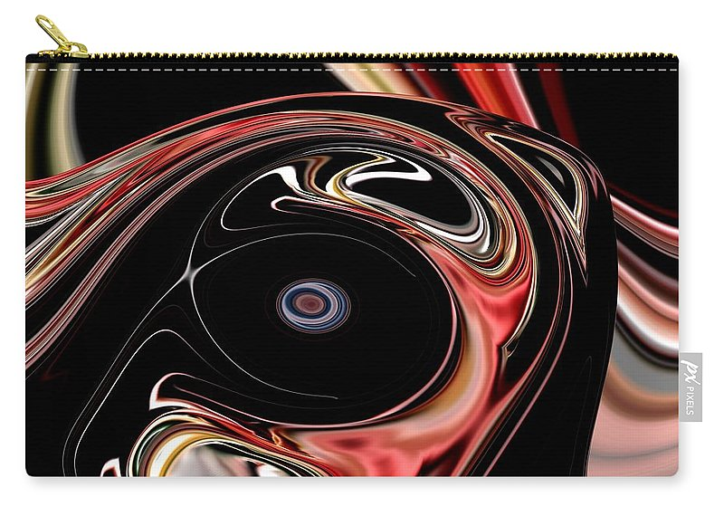 Abstract Carry-all Pouch featuring the digital art Abstract 7-26-09-b by David Lane